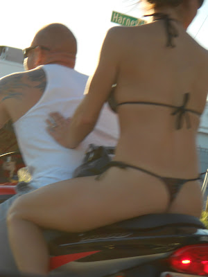 thong on motorcycle