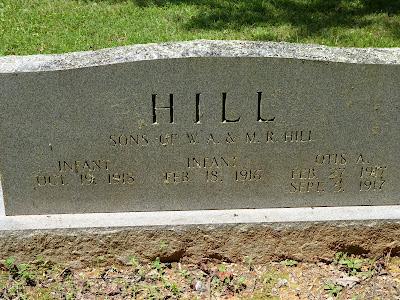 3 dead babies' graves