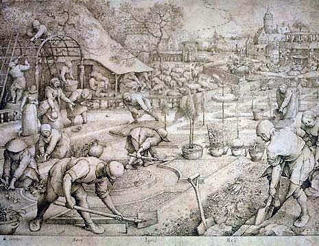 Pieter van der Heyden Printemps d'après Bruegel l'ancien
