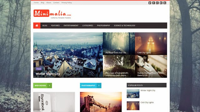 Free Download Minimalia Responsive Blogger Template