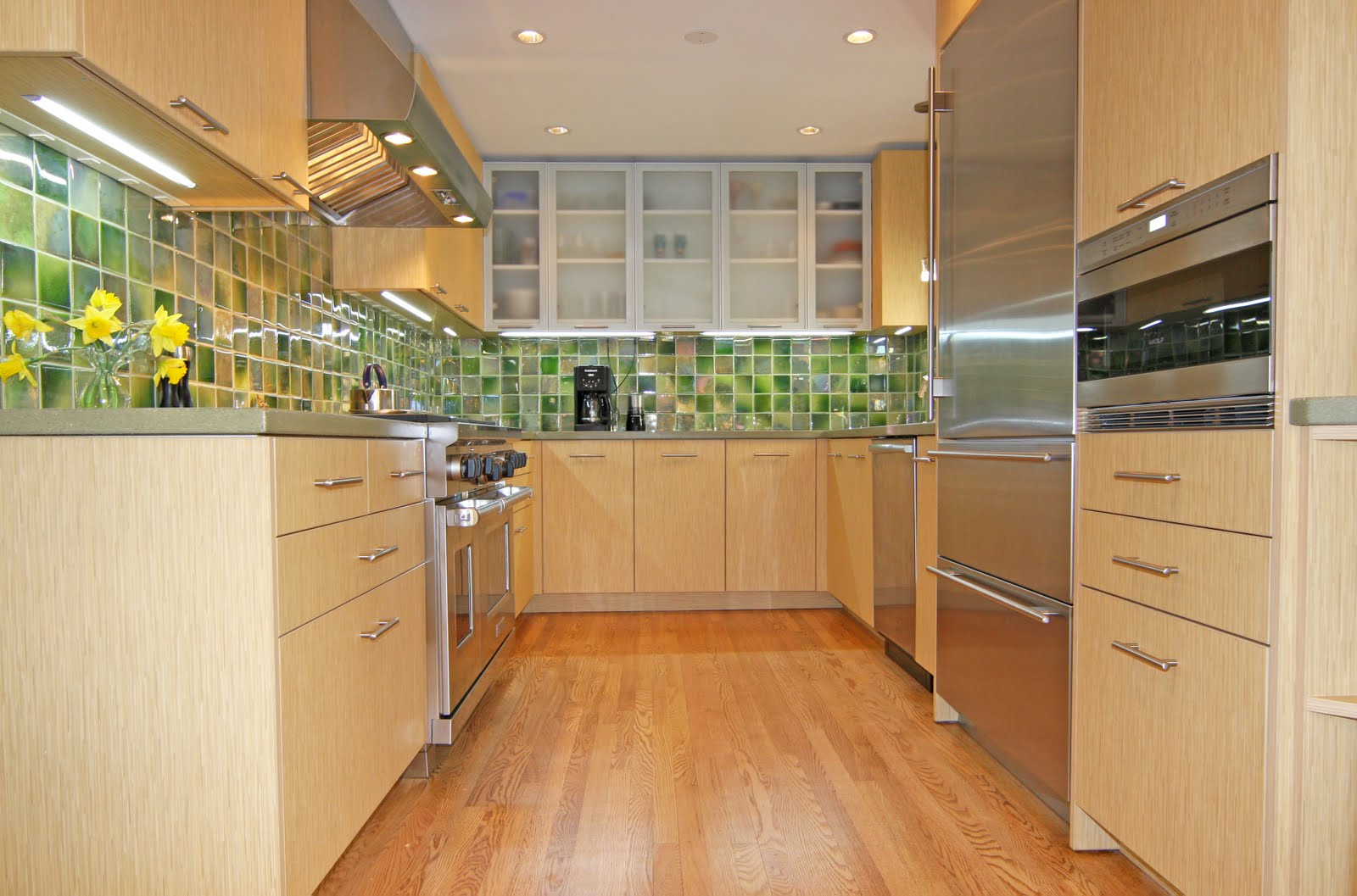 ... : Green Remodel - Gourmet Galley Kitchen Remodel with Deconstruction