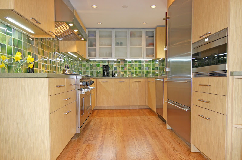 Gourmet Galley Kitchen with Custom Cabinetry title=