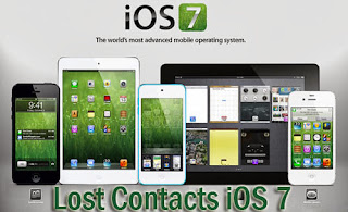 lost contacts iOS 7