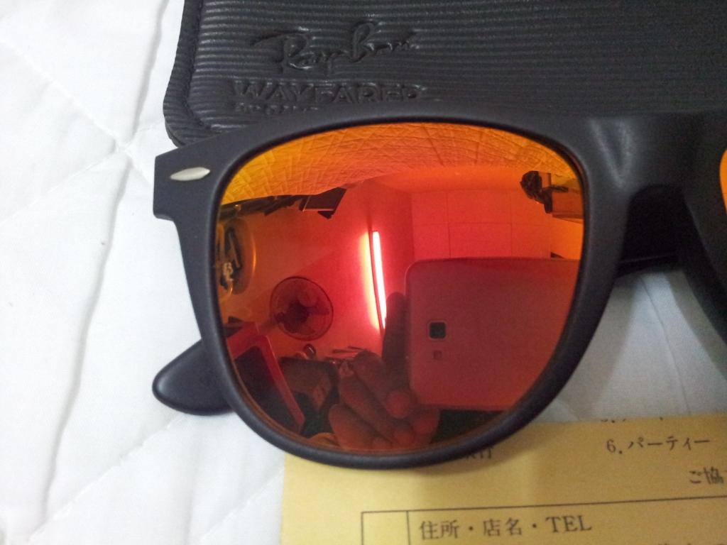 Ray Ban Wayfarer Red Lens