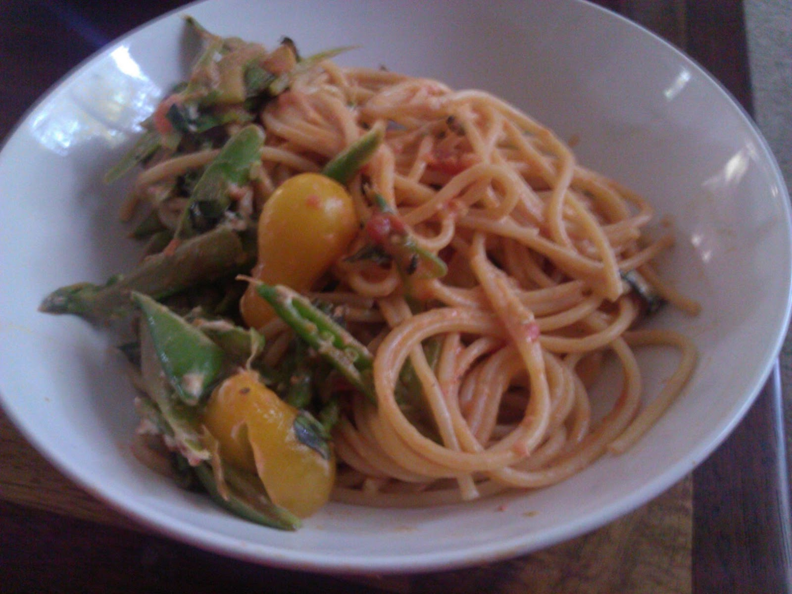 Linguine With Bacon, Goat Cheese And Sugar Snap Peas ...