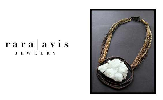rara avis jewelry - statement jewelry left raw