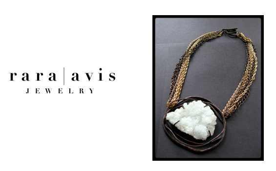 rara avis jewelry - statement jewelry left raw
