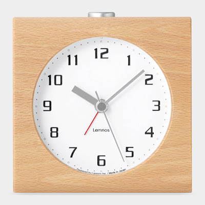 alarm clock in wood casing