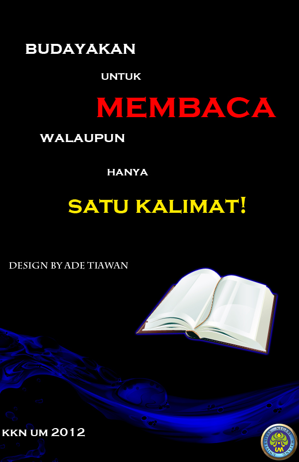 Poster Perpustakaan yang Simple