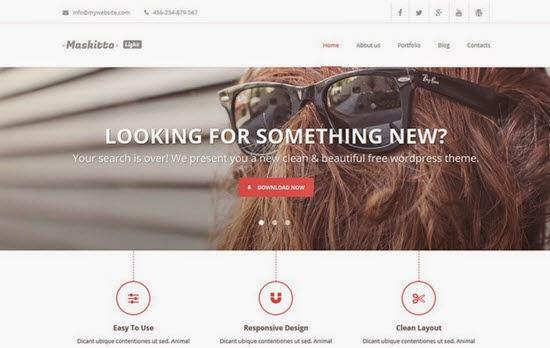 Maskitto Light Free WordPress Theme