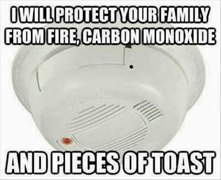 smoke detector funny, fire alarm comic, cooking funny