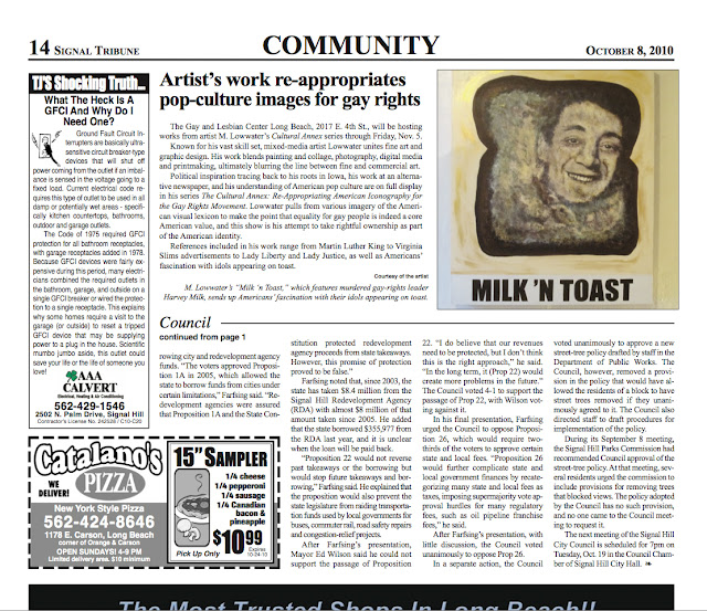 Matt Highland, mathew highland, harvey milk, toast