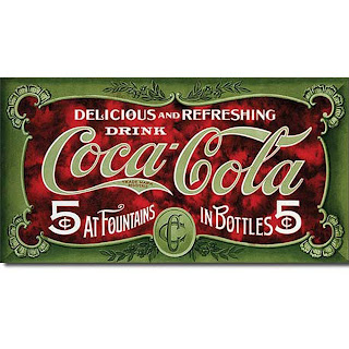 coca cola 5 cent 1900s vintage tin sign for man caves