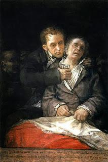 Pintura Goya atendido por Arrieta en 1820, en agradecimiento al médico