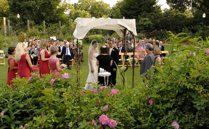 Botanical Gardens Wedding Venue And Reception Rose Garden