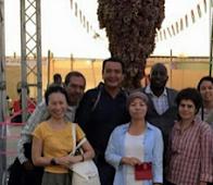 Dineh (Navajo) Farmer Visits Palestine