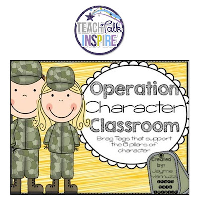 https://www.teacherspayteachers.com/Product/Operation-Character-Classroom-Brag-Tags-That-Support-the-6-Pillars-1774214
