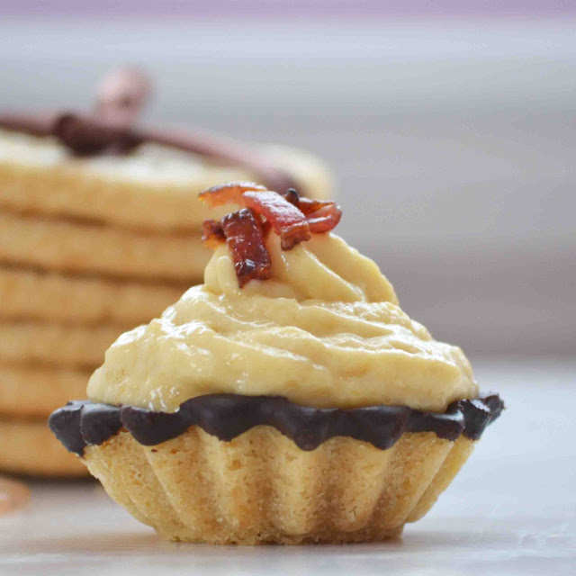 Maple Dark Chocolate Cookie Cups Filled with Maple Mousse Topped with ...