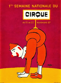 circus illustration by french poster artists savignac