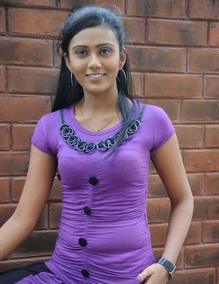Actress Darsha Hot in Tight Blue Dress Photos