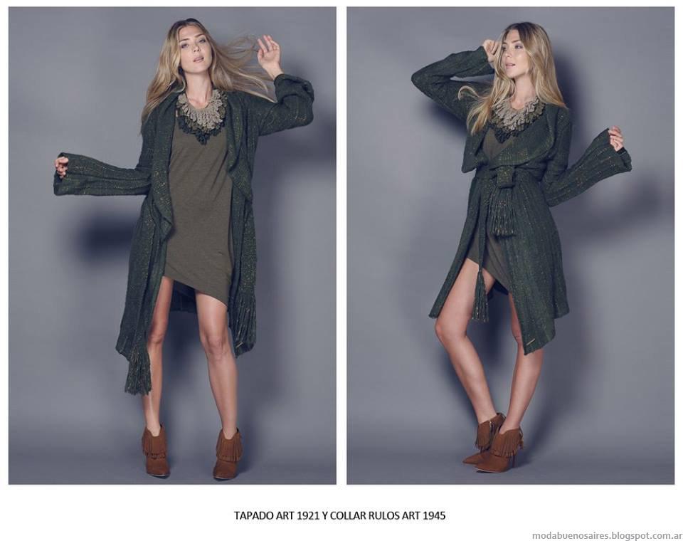 Tapados invierno 2015 tejidos. Moda invierno 2015.