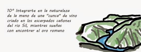 """Integrarte en la naturaleza de la mano de una """"cunca"""" de vino criado en los escarpados cañones del rio Sil, mientras sueñas con encontrar el oro romano"""