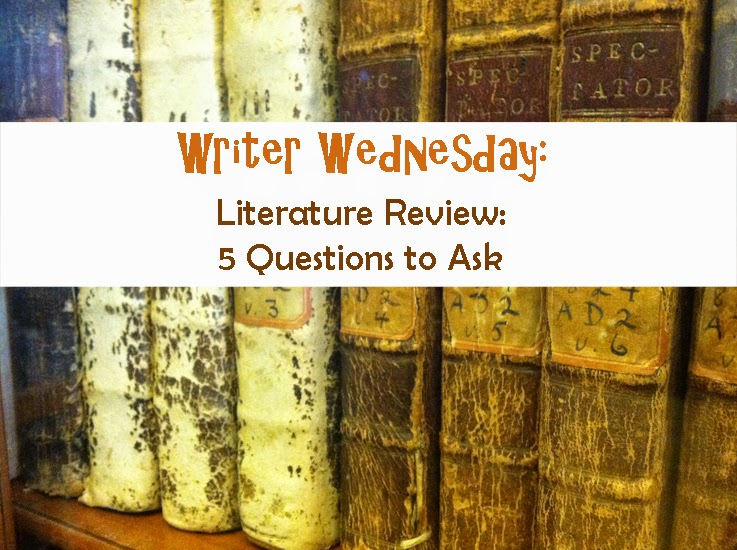 Writer Wednesday Literature Review Five Questions to Ask