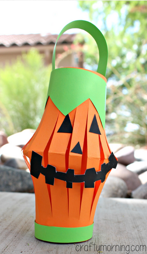 http://www.craftymorning.com/pumpkin-toilet-paper-roll-lantern-craft/