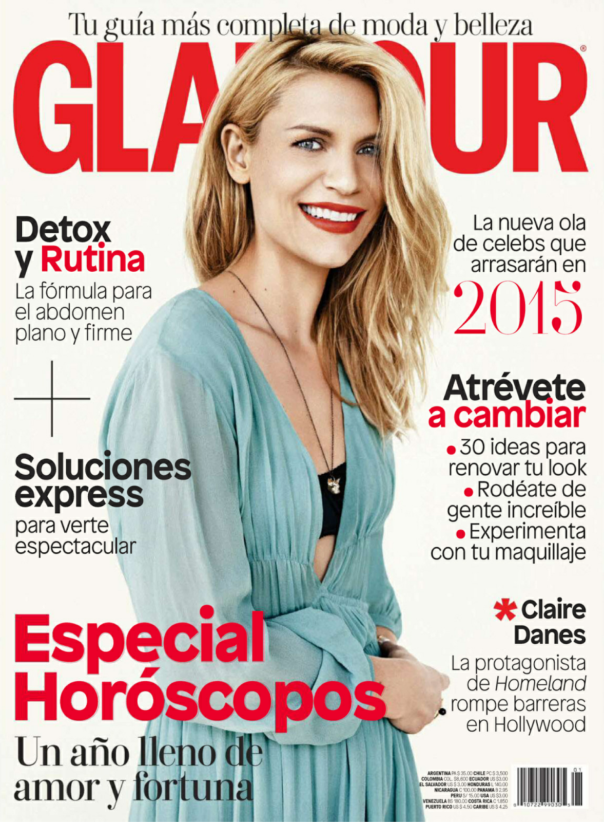 Claire Danes - Glamour Latin America, January 2015