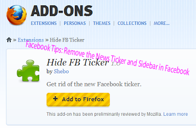 Facebook Tips: Remove the News Ticker and Sidebar in Facebook