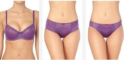 Lencería clásica en color violeta