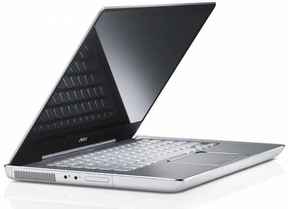 Dell XPS 14z, Very thin 14-inch, Front View