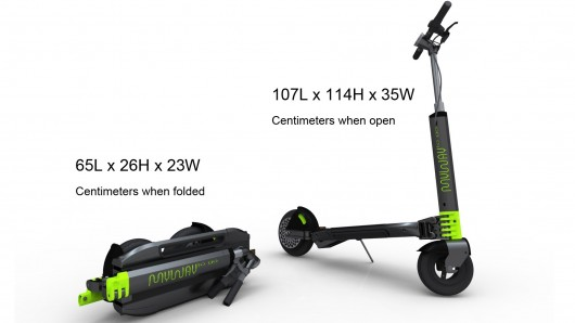 Sportmondo sports portal new product lightest personal mover for Fold up scooters motorized