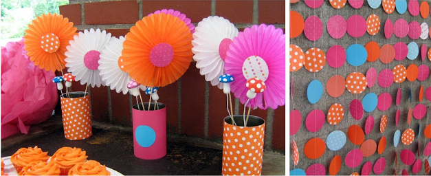 Ideas para fiestas mantel de guirnalda de papel for Decoracion de guirnaldas