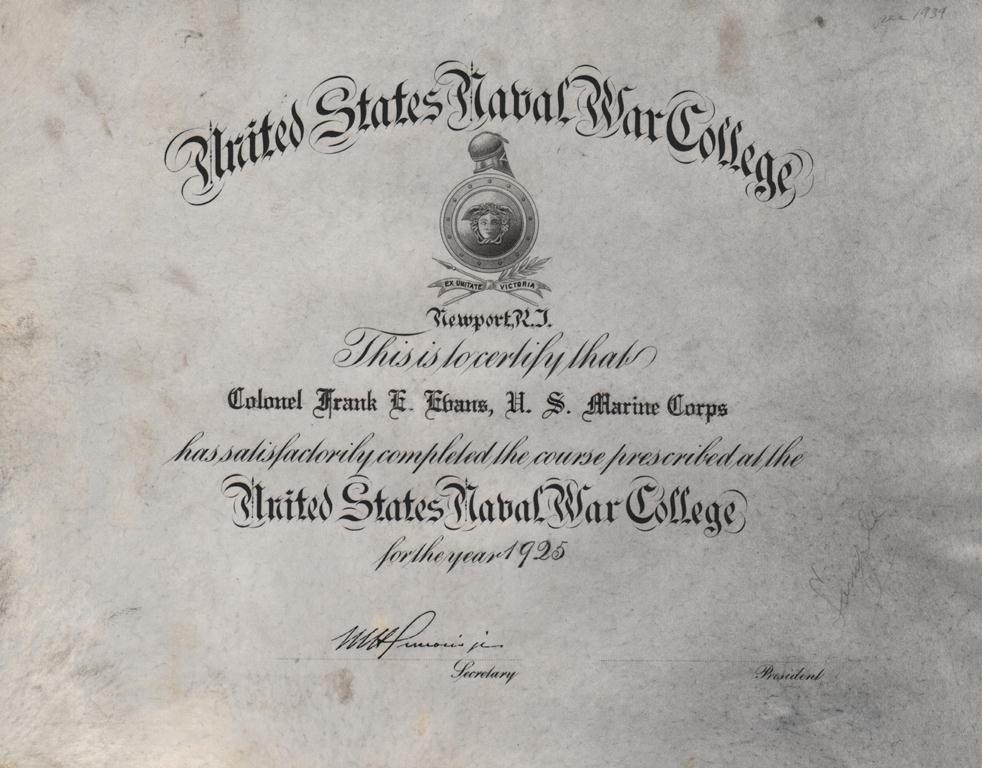 war college thesis
