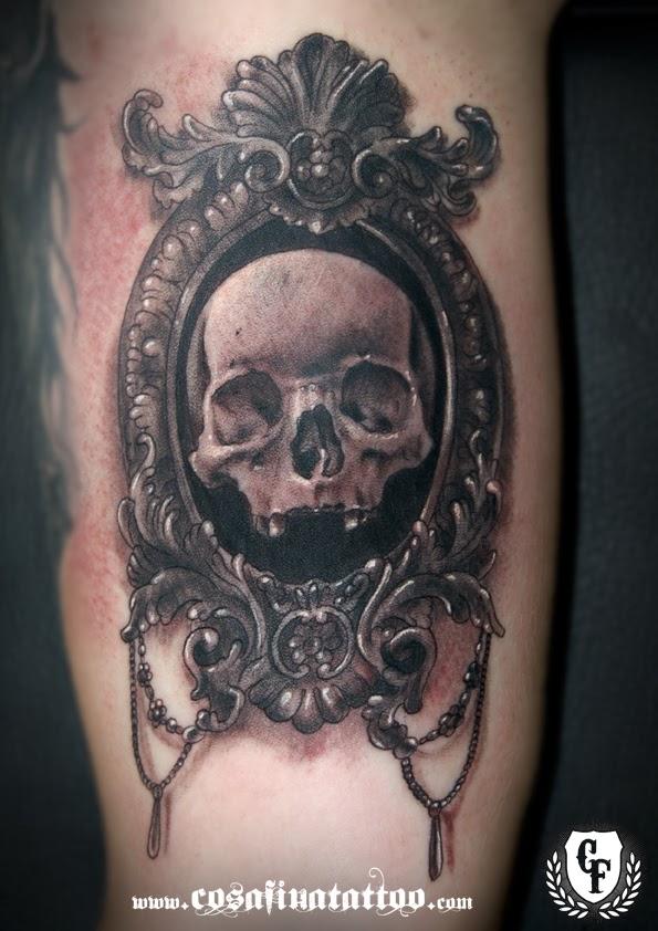 CosaFina tattoo Carlos Art Studio: tatuaje camafeo marco antiguo ...
