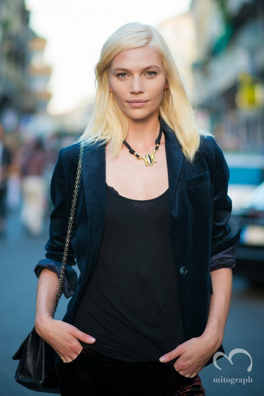 mitograph Aline Weber After no21 Numeroventuno Milan Fashion Week 2014 Spring Summer MFW