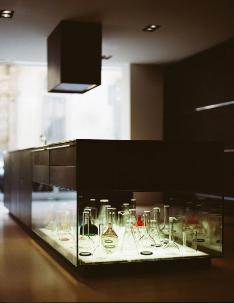 Kitchen Island Fish Tank maison grace: bulthaup kitchen island with integrated glass showcase