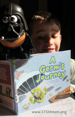 "Reading ""A Germ's Journey"" to Vadar Tator!"