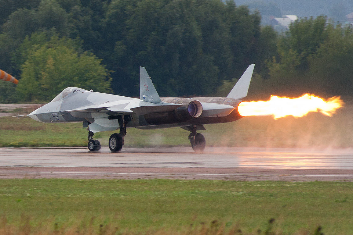 Russian fifth generation stealth t-50 pak fa fighter jet aborted its