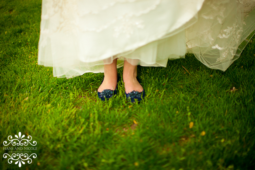 shoes detail at frederick, md wedding