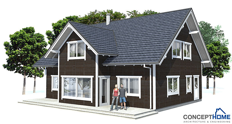 Affordable home plans affordable home ch40 for Small house plans with cost to build