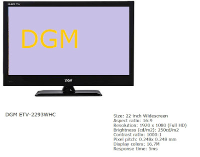 DGM ETV-2293WHC LED TV