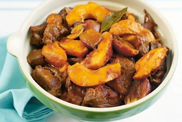 Beef stew with quinces traditional Chios recipe, Chios recipe, Mediterranean Diet,