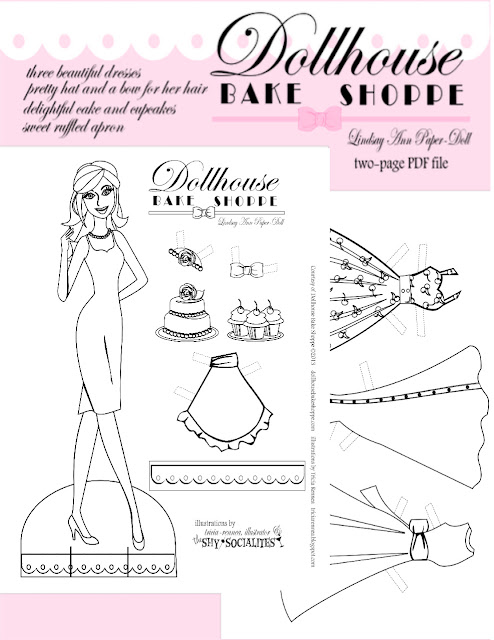 Click Here To View Print Your Paper Doll Coloring Page Set