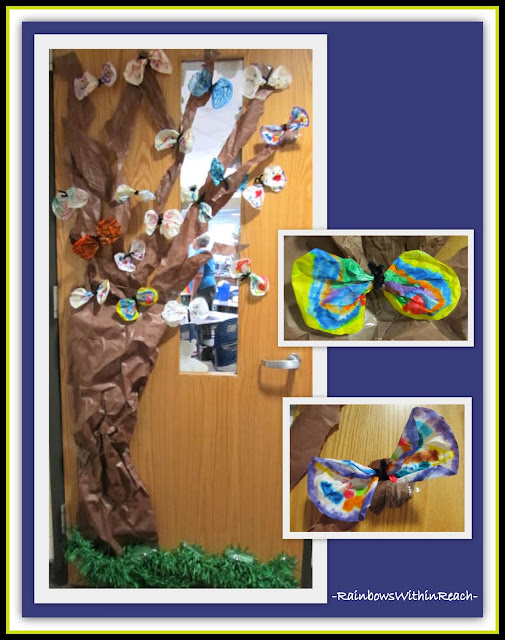 photo of: Springtime Classroom Decorated Door (Rockin' Teaching Materials via RainbowsWithinReach)