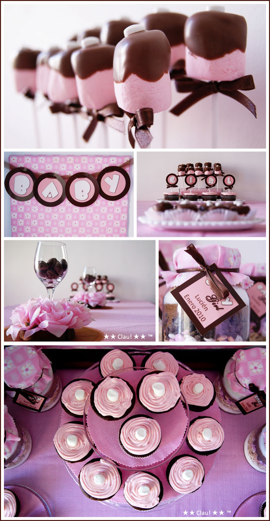 Pink and brown baby shower table ideas photograph my lyfe - Pink baby shower table decorations ...