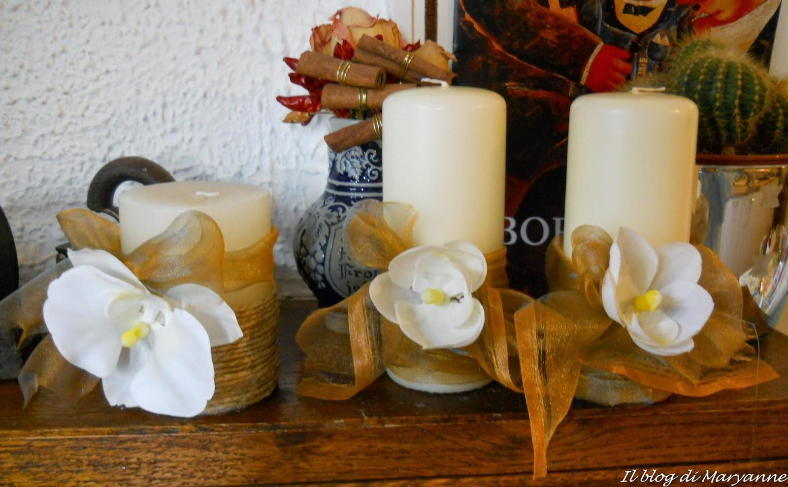 Decorare Candele Fai Da Te : Decorare una candela per natale natale come decorare casa