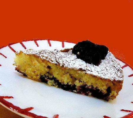 One Perfect Bite: Buttermilk Cake with Blackberries