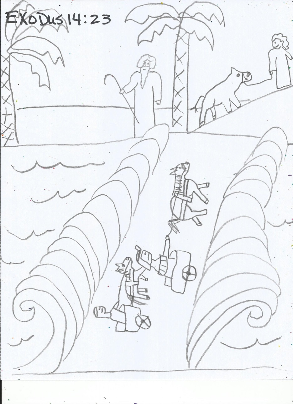 Moses And The Red Sea Bible Coloring Sheets Pictures To Pin On